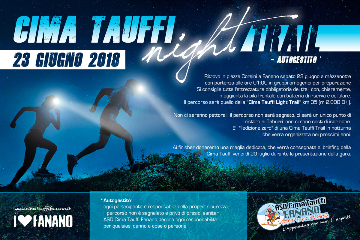 cima tauffi night trail sito